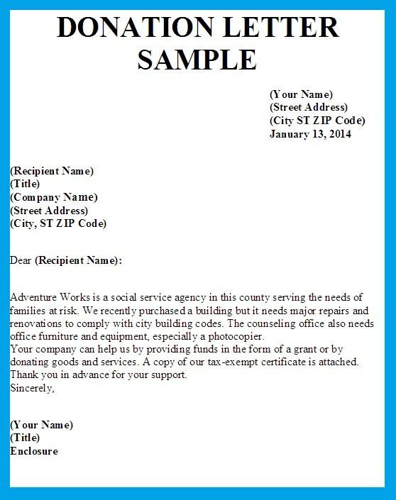 Donation Letter Template Uk