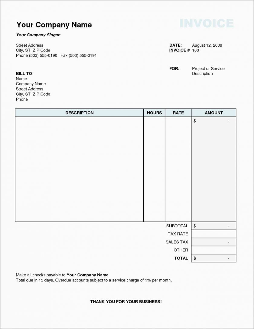 Downloadable Free Printable Invoice Templates