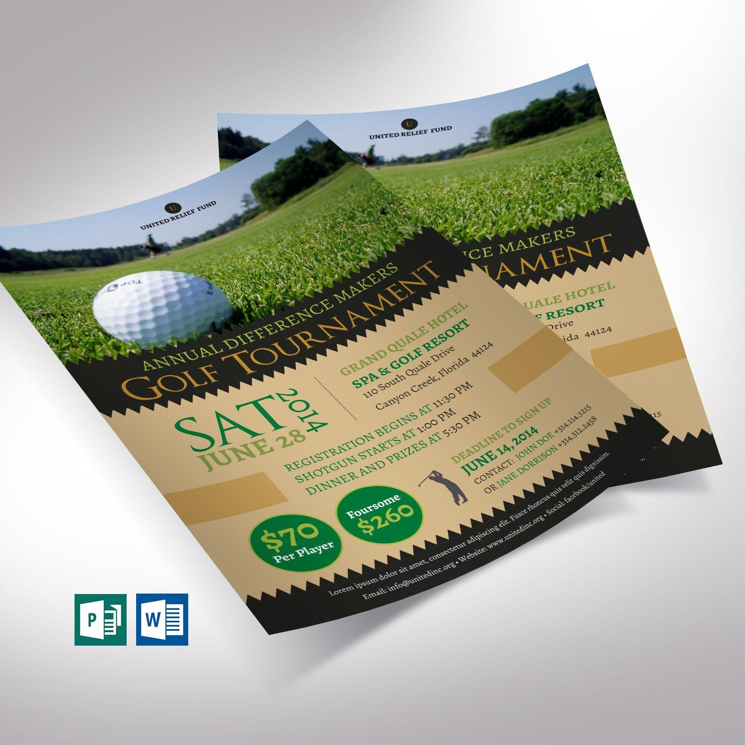 Editable Golf Tournament Flyer Template
