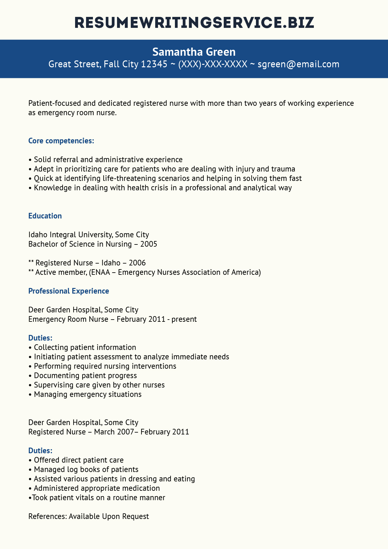 Emergency Nursing Resume Examples Inspiring Photos Professional Er Nurse Resume Example