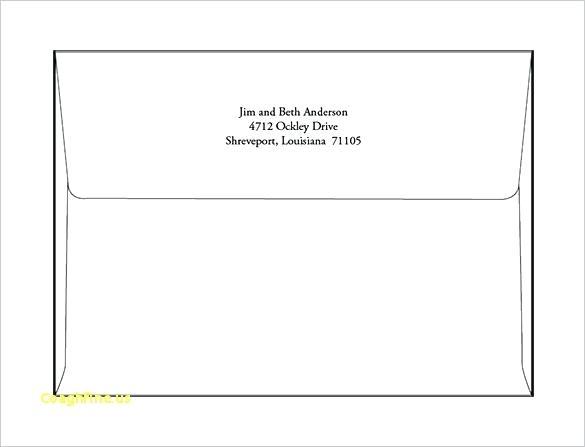 Envelope Printing Template Online