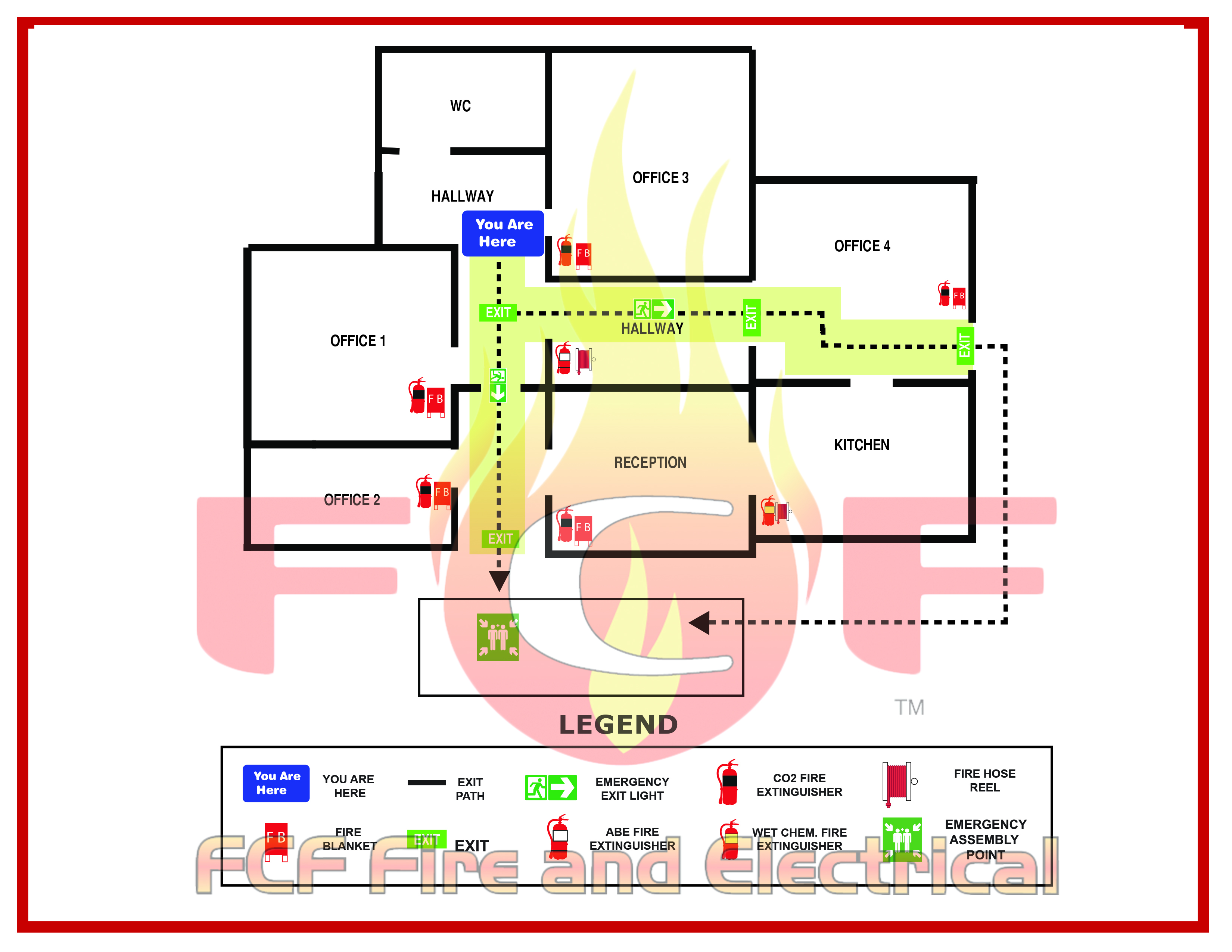 Evacuation Plan Template For Office
