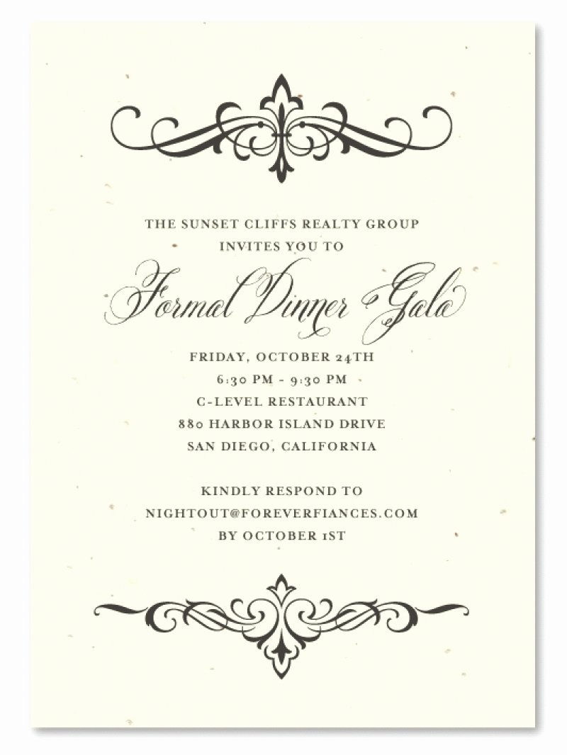 Event Formal Invitation Template