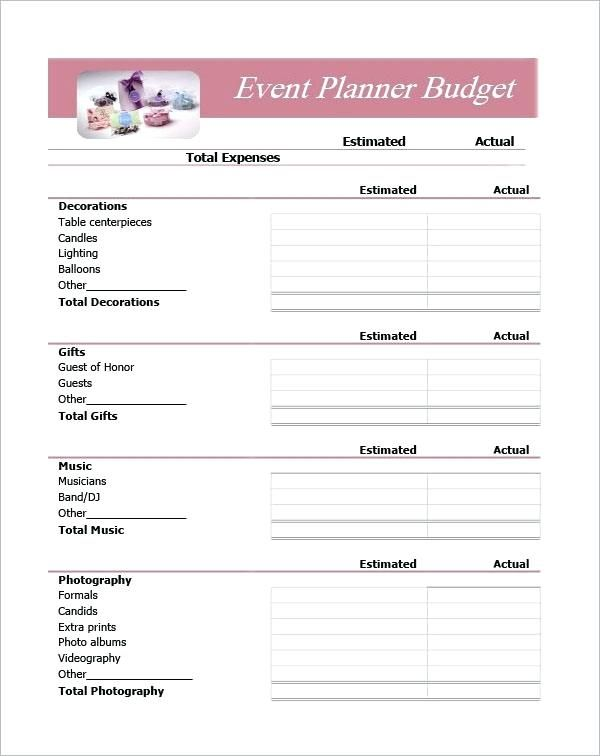 Event Planner Event Planning Template Excel