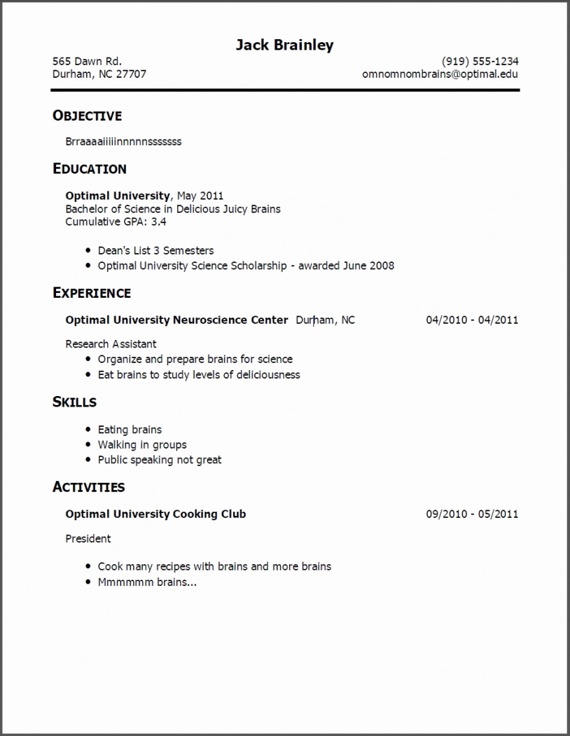 Examples Of Resumes For Teenagers For Teen Resume With No Work