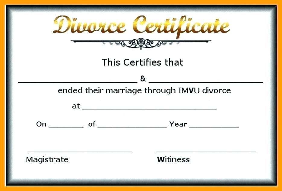 Fake Divorce Papers Template Uk