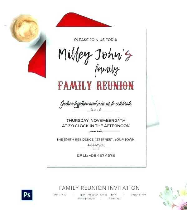 Family Gathering Family Reunion Program Template