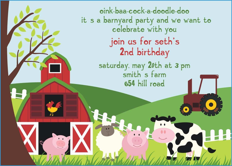 Farm Animal Party Invitation Templates Free Best Free Birthday Party Invitation Templates