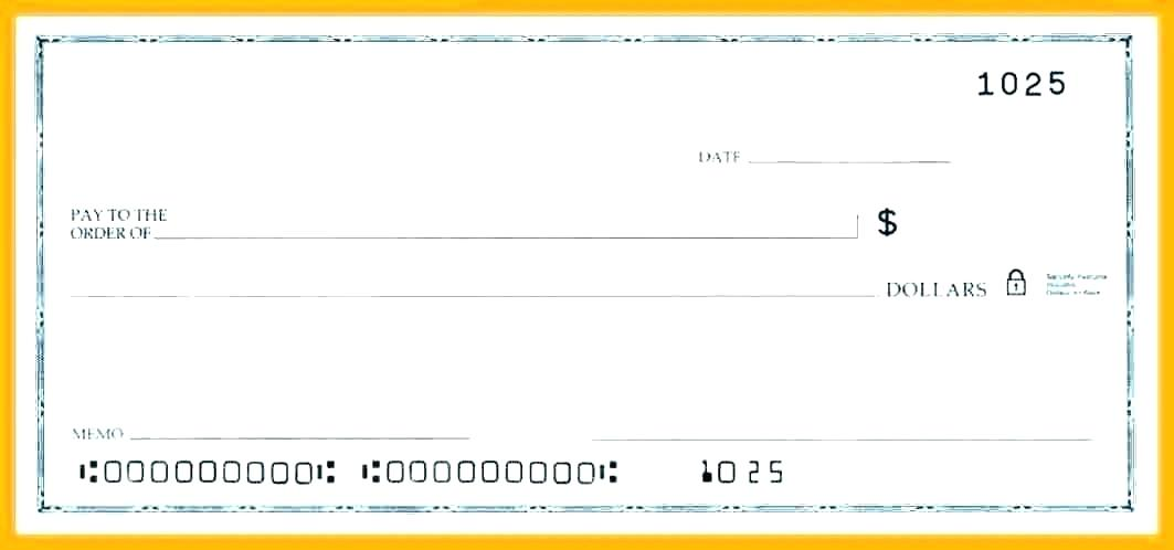 Fillable Payroll Check Template