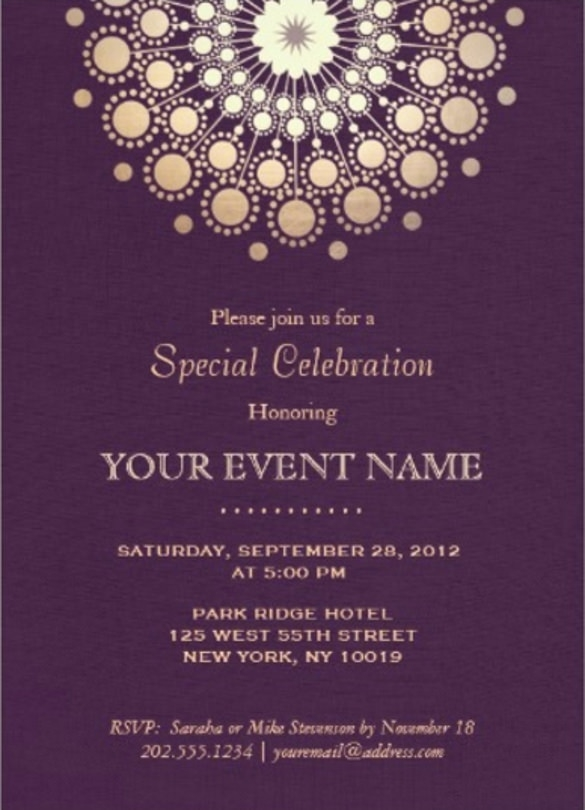 Formal Invitation Template 33+ Free Sample, Example, Format Inside Formal Template Invitation Card