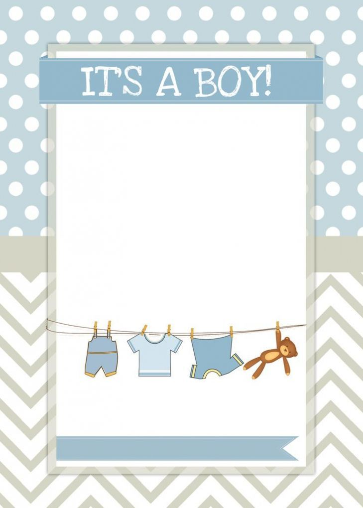 Free Baby Shower Invitation Templates For Boy