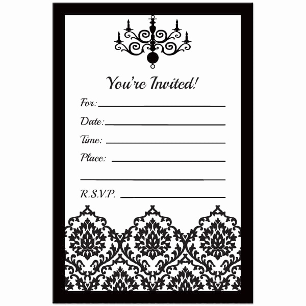 Free Printable 40th Birthday Party Invitation Templates For Black And White Birthday Invitation Template Free