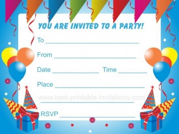 011 Template Ideas Free Birthday Party Invitation Templates