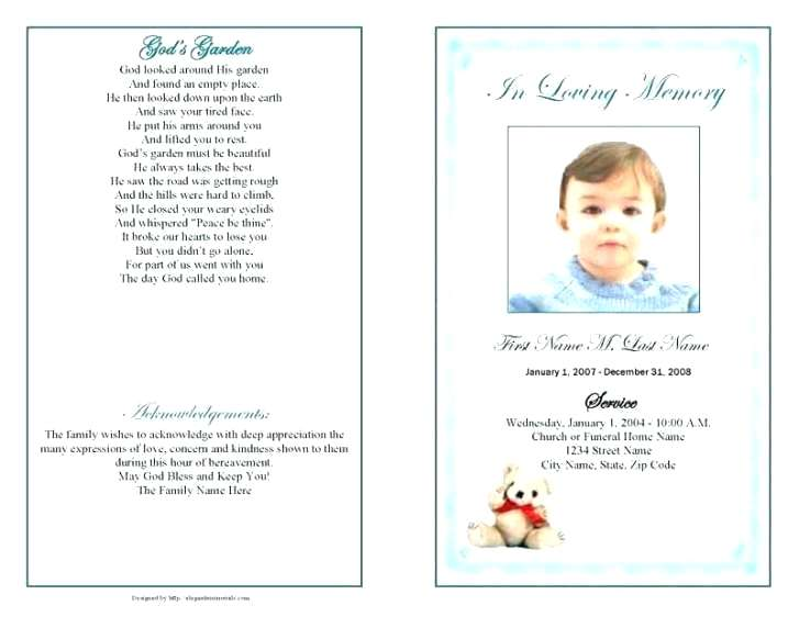 Free Blank Funeral Program Templates Uk