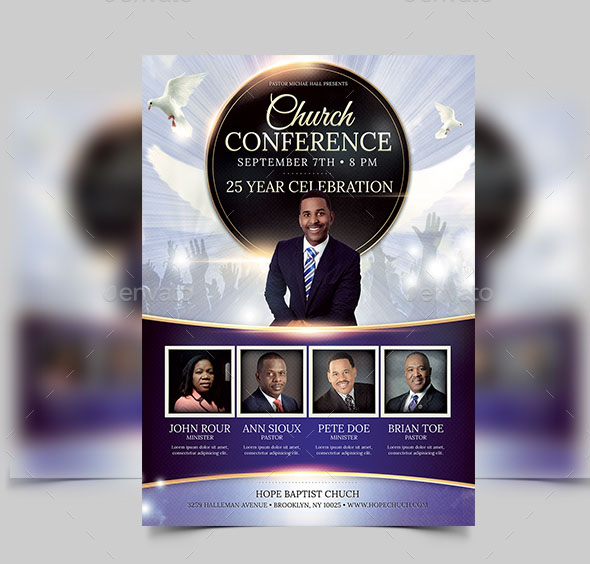 Free Church Flyer Templates Photoshop