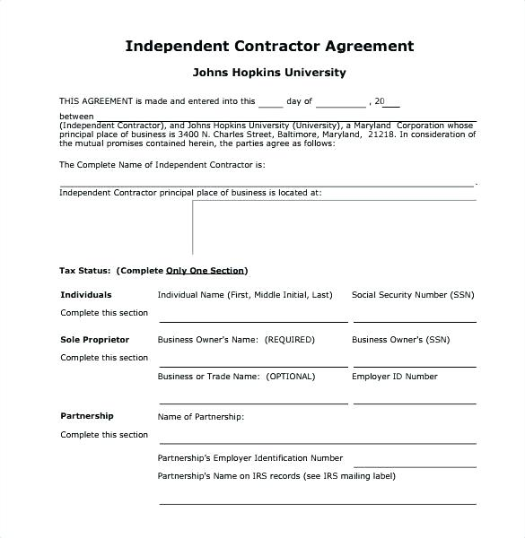 Free Contractor Agreement Template Canada