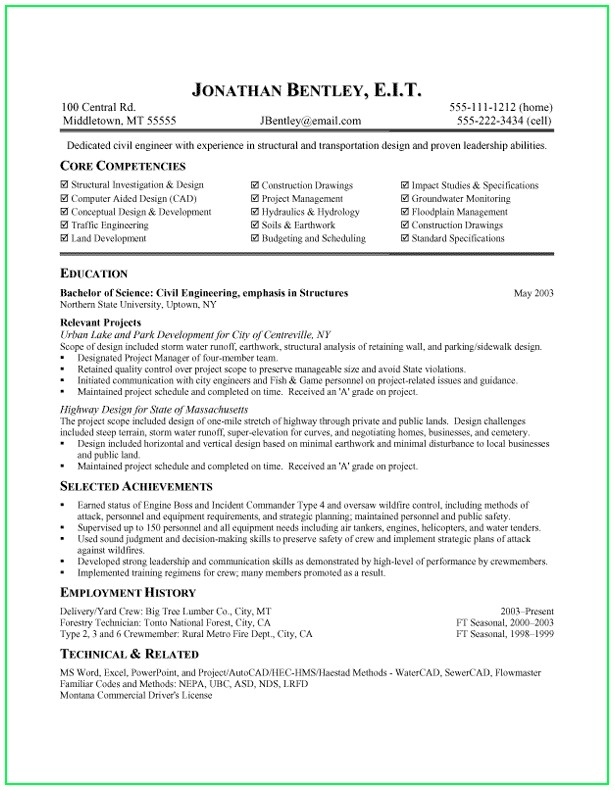 Free Core Functional Resume Template