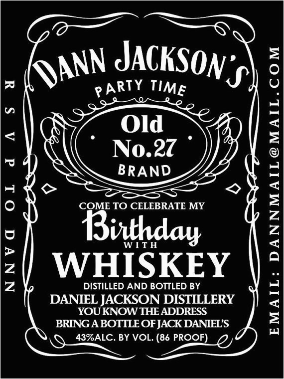 Jack Daniels Birthday Invitation Template Free Editable Jack Daniels Label Template Templates Resume