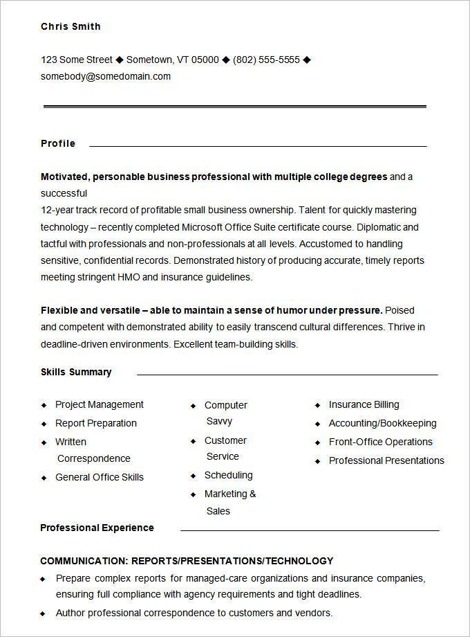 Free Functional Resume Templates