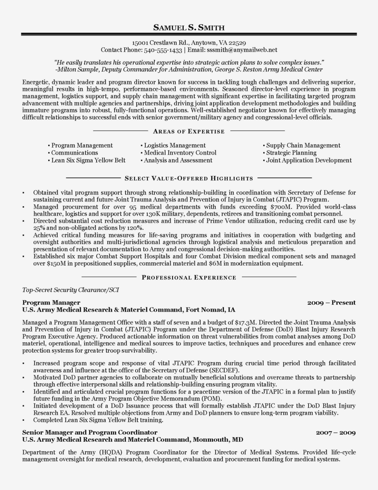 Free Military Resume Builder Online