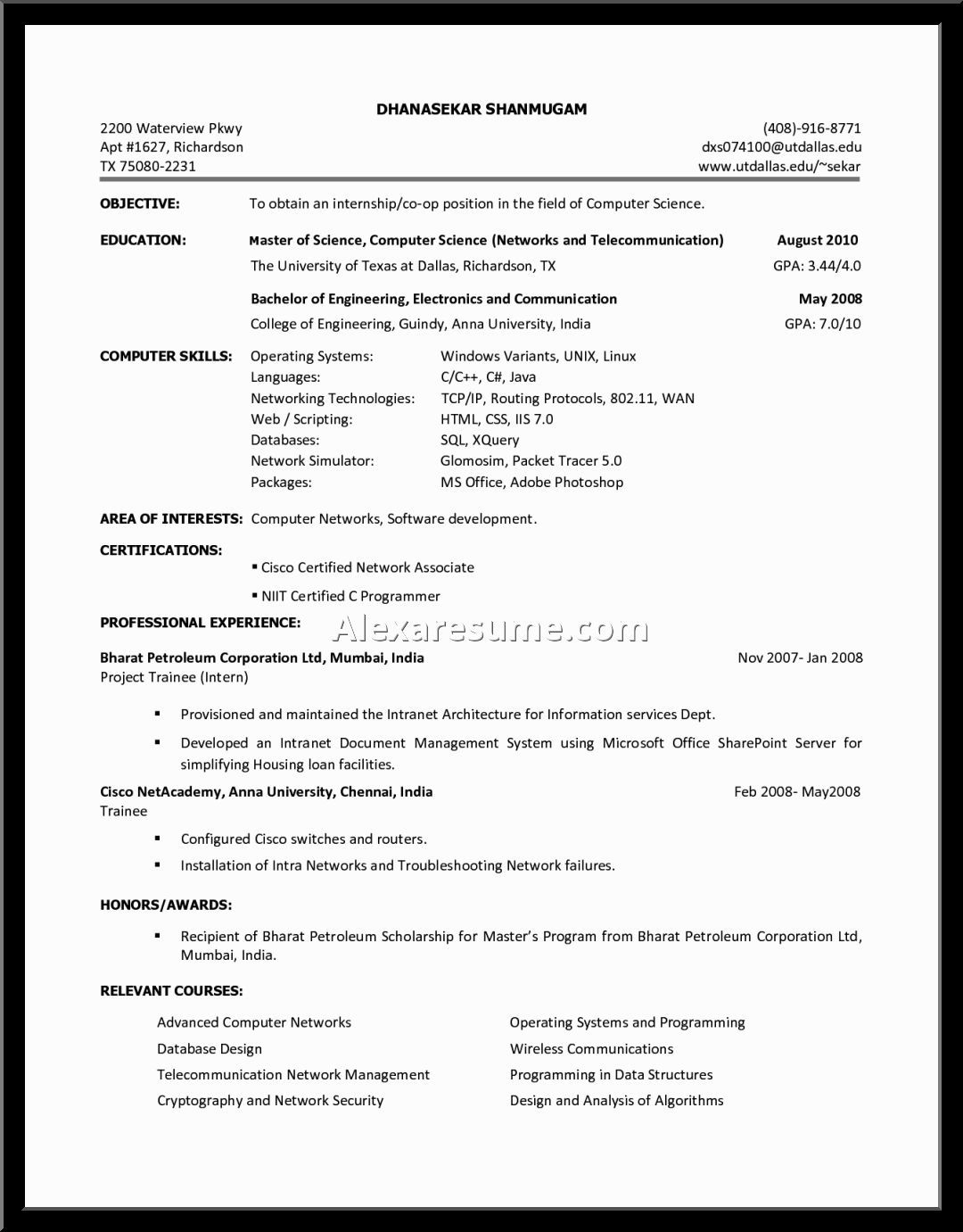 Free No Cost Resume Builder