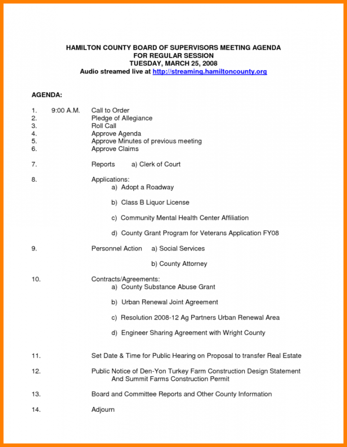Free Non Profit Board Meeting Agenda Template Solanayodhyaco Nonprofit Board Meeting Agenda Template Doc