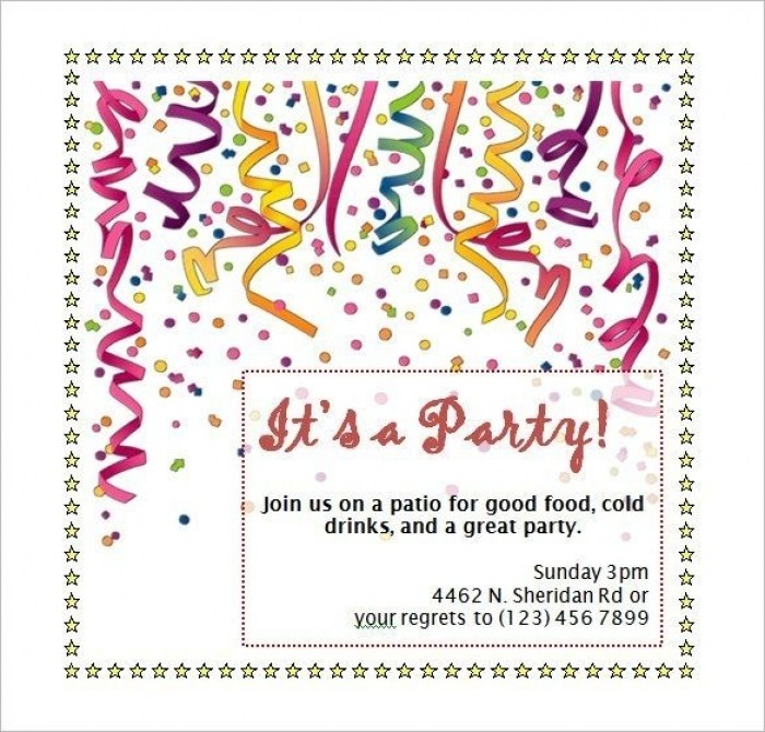 Awesome Party Invitation Template Word New Party Invitation Template