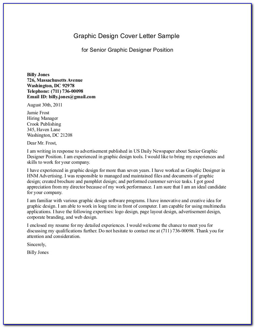 Free Printable Cover Letter For Resume