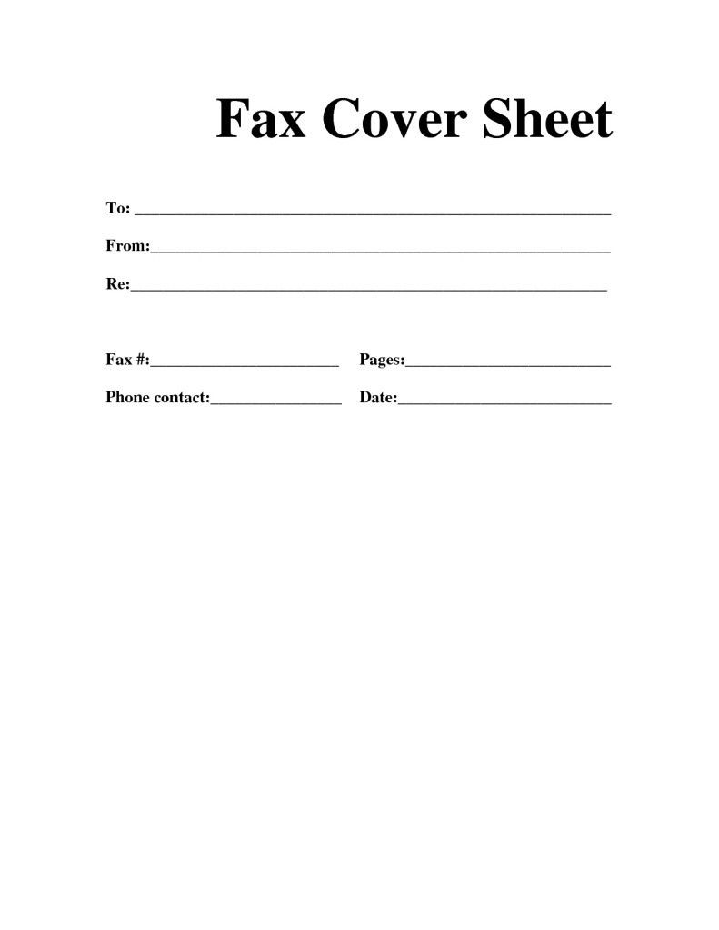 Free Printable Fax Cover Letter