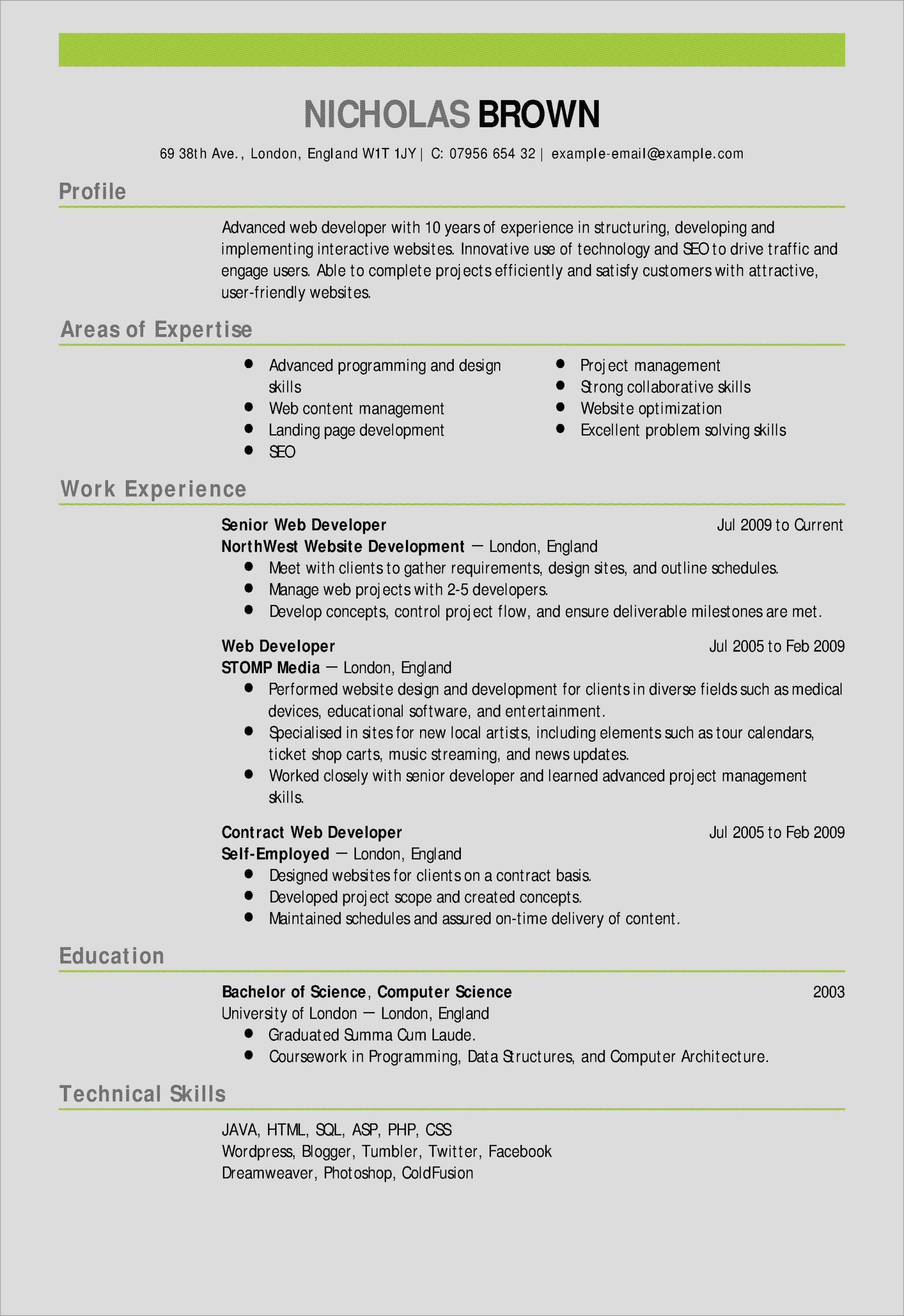 Creative Resume Templates For Microsoft Word Fresh 17 Templates & Samples Resume Template Microsoft Word Free