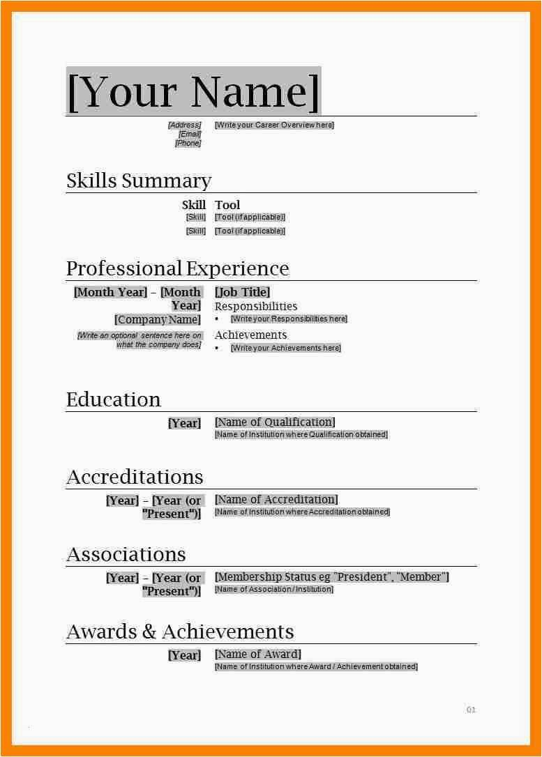 Free Resume Templates For Microsoft Word 2007