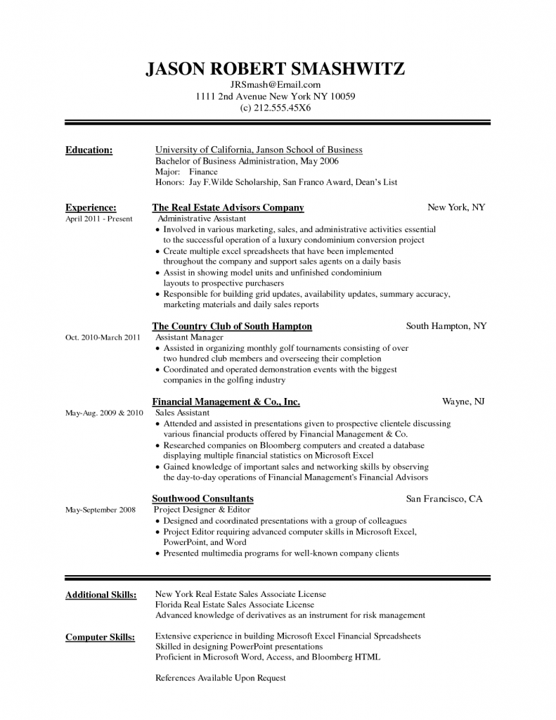 Free Resume Templates For Microsoft Word 2010