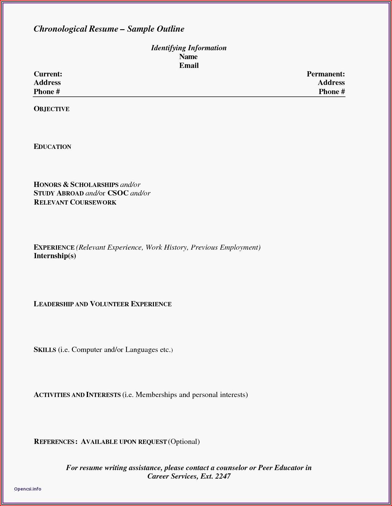 Free Printable Resume Builder Best Free Printable Resume Beautiful Free To Print Resume Templates New