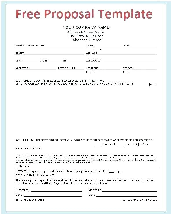 General Contractor Proposal Template