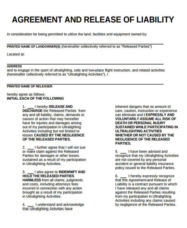General Release Of Liability Template
