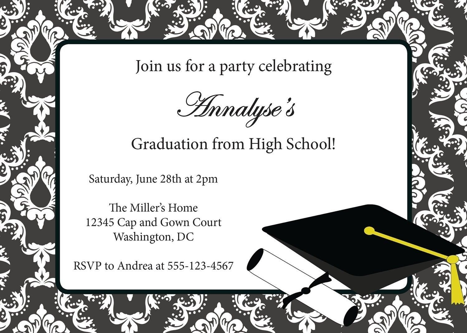 Graduation Invitations Templates Free