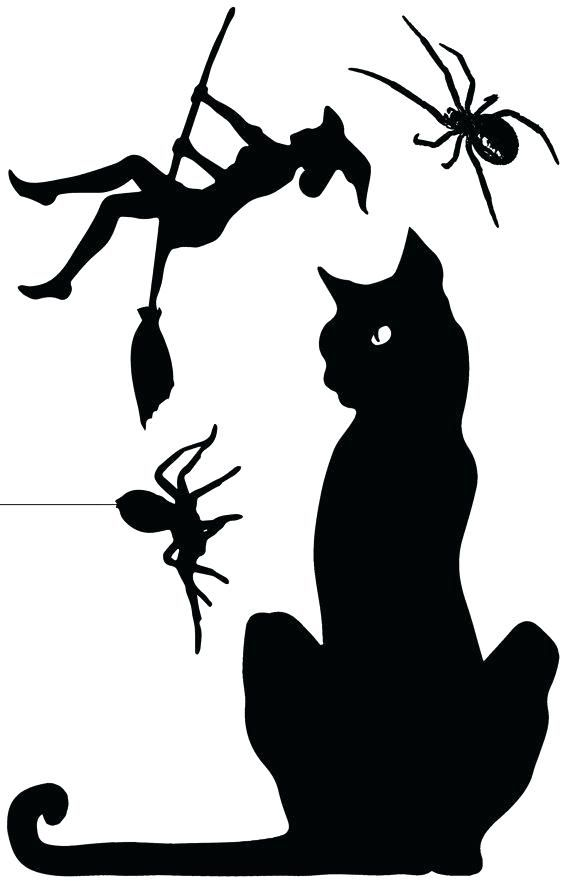 Halloween Window Silhouettes Template