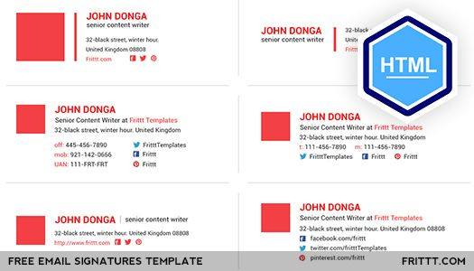 Html Email Signature Templates Free Download