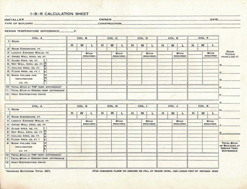 Hvac Residential Load Calculation Worksheet