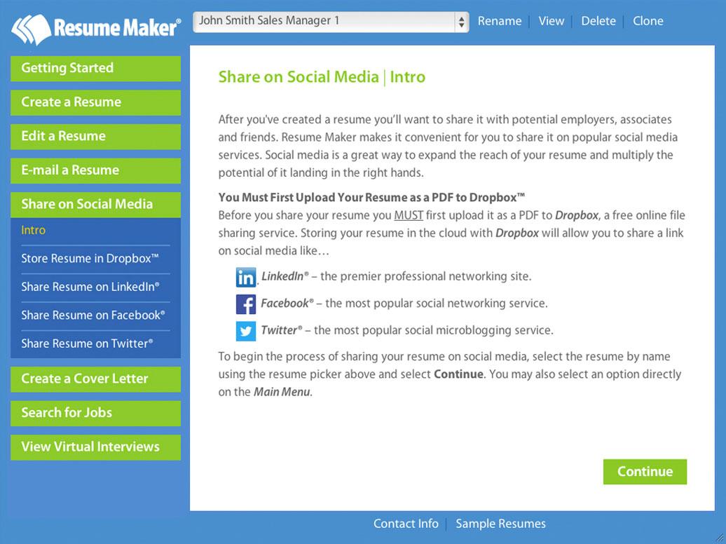 Individual Software Resume Maker
