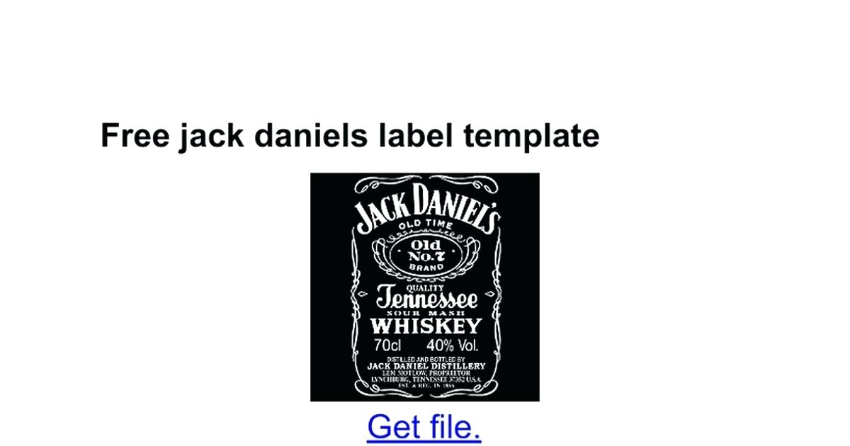 Jack Daniels Label Template Free