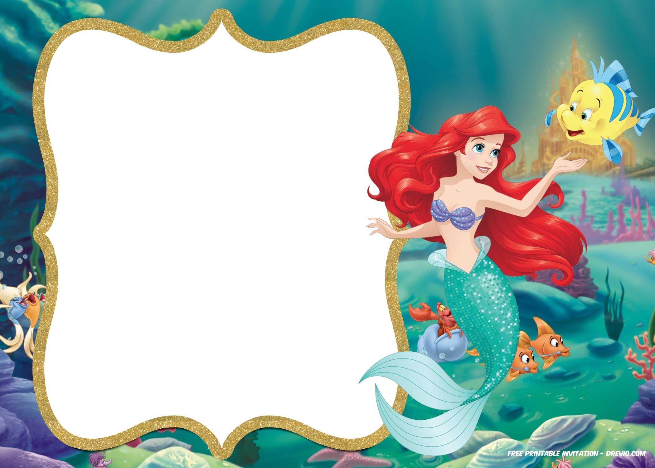 Little Mermaid Invitation Template Free