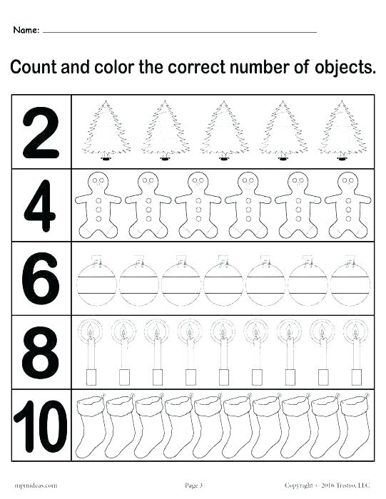 Mathematics Printable Worksheets For Kindergarten
