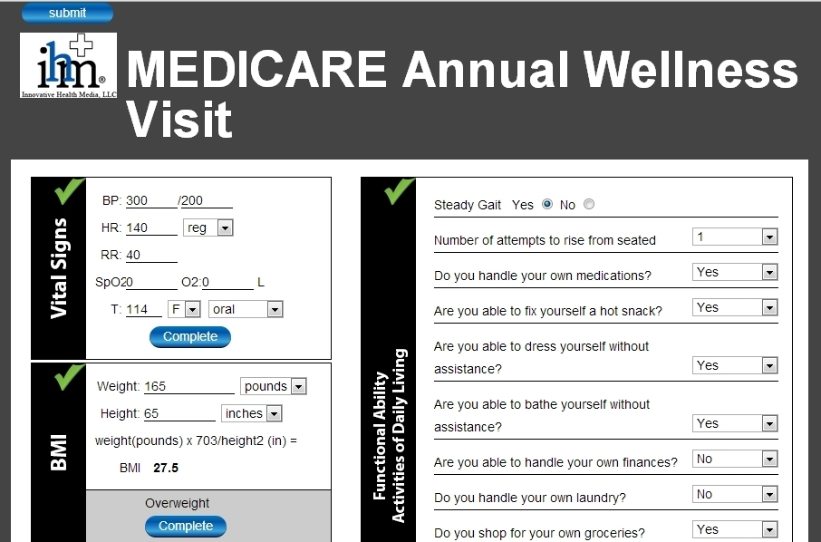 Medicare Annual Wellness Visit Template | Template In Medicare Annual Wellness Visit Template