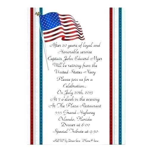 Military Ceremony Program Template