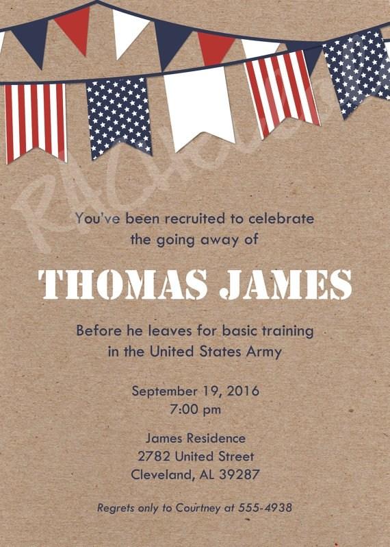Military Going Away Party Invitation Printable Rachellola Party
