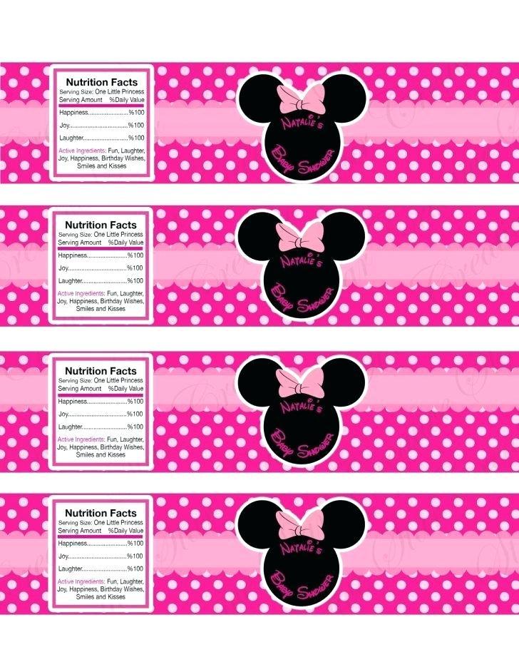 Minnie Mouse Return Address Label Template