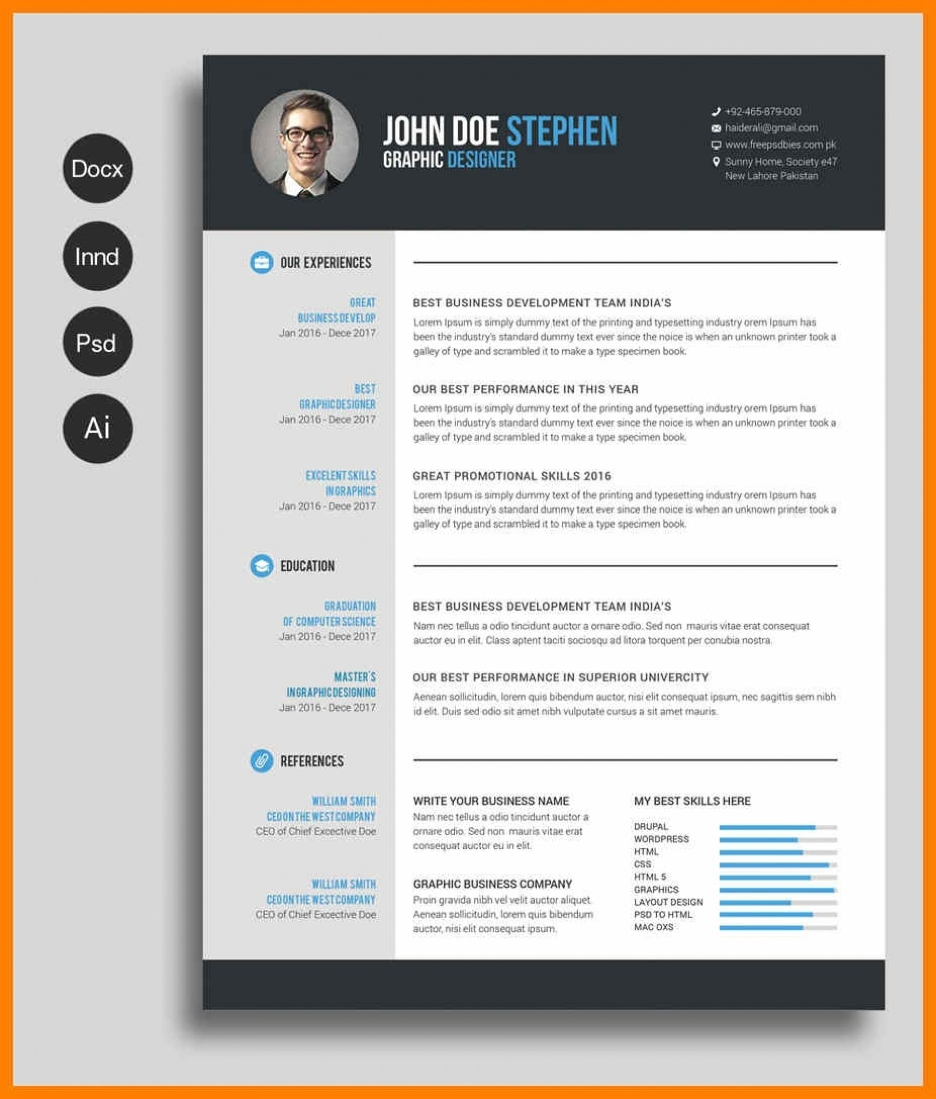 Modern Resume Template Australia Free