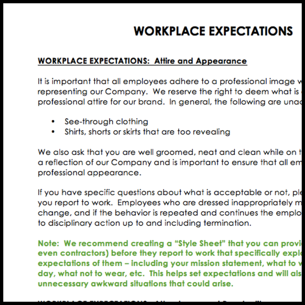 New Employee Handbook Template