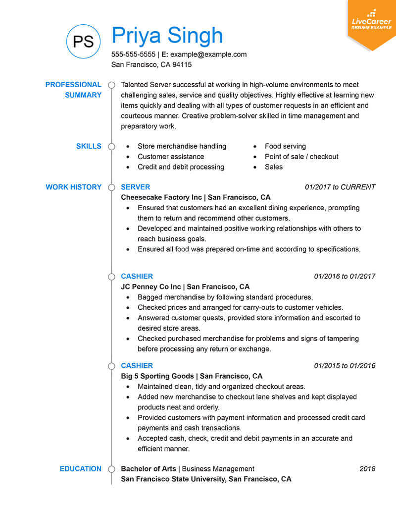 New Resume Format 2019 For Freshers